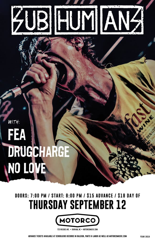 SUBHUMANS / FEA / Drugcharge / No Love