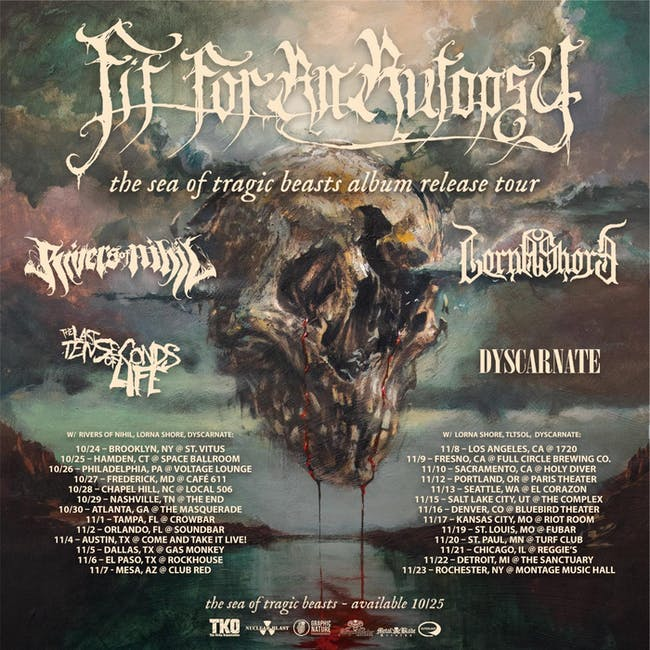 FIT FOR AN AUTOPSY, RIVERS OF NIHIL, LORNA SHORE, DYSCARNATE