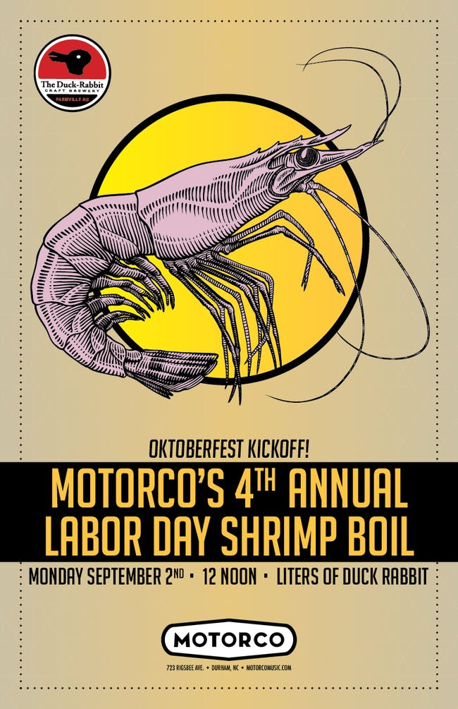 4th ANNUAL LABOR DAY SHRIMP BOIL & OKTOBERFEST KICKOFF