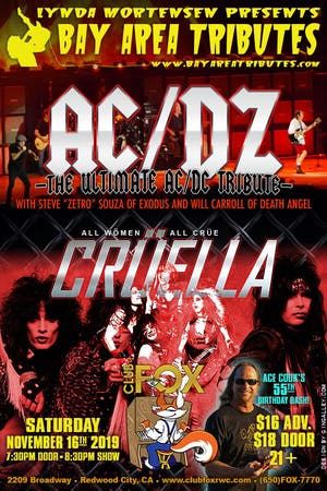 AC/DZ - The Ultimate AC/DC Tribute w/CRÜELLA - All Women, All Crüe