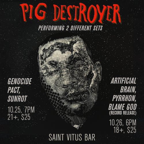 Pig Destroyer, Genocide Pact, Sunrot, Bandit