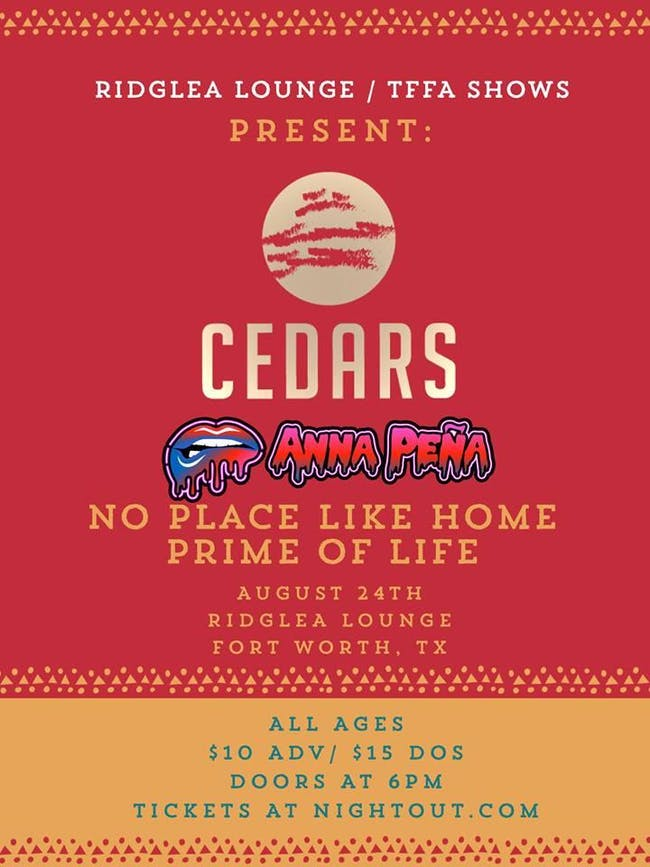 Cedars, Anna Peña, No Place Like Home, Prime of Life in the Lounge