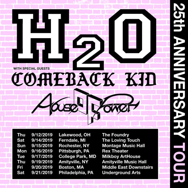 H2O w/  Comeback Kid, Abuse of Power, Transparent Moments