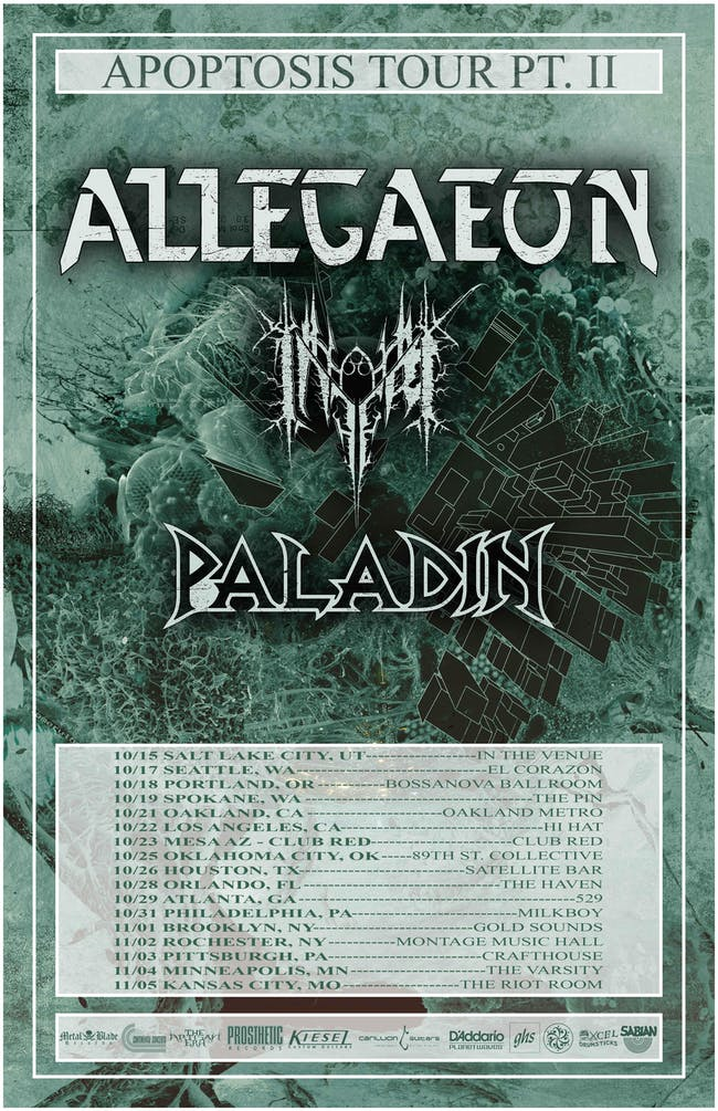 Allegaeon, Inferi, and Paladin