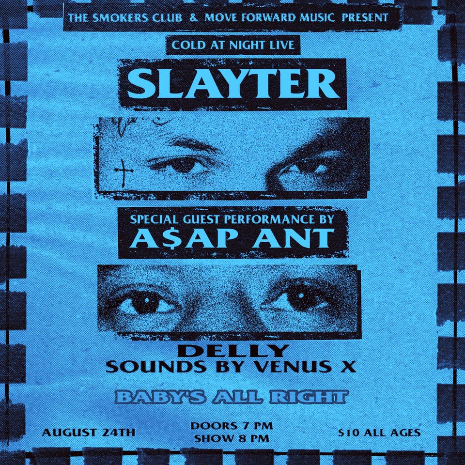 The Smokers Club & Move Forward Music Present Slayter