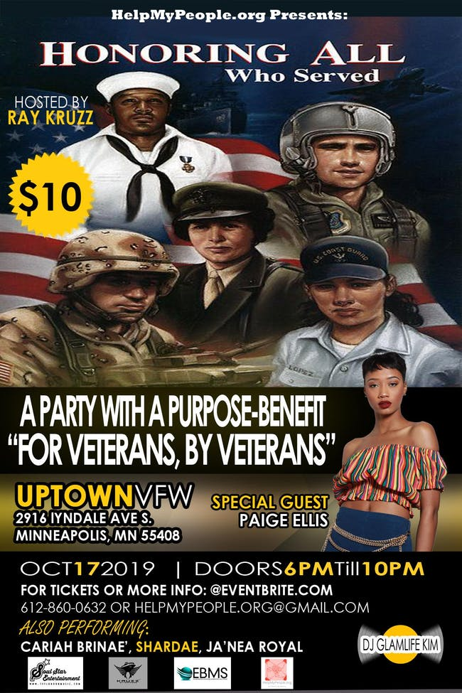 "A Party With A Purpose-Benefit ""For Veterans, By Veterans"" ft. Paige Ellis"