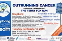 Our Health: Outrunning Cancer HURONIA PLAYERS THEATRE