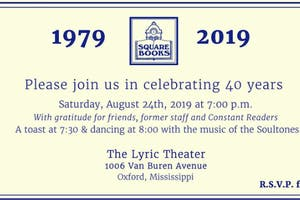 Square Books 40th Anniversary Celebration