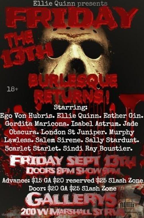 Friday the 13th Burlesque Returns!