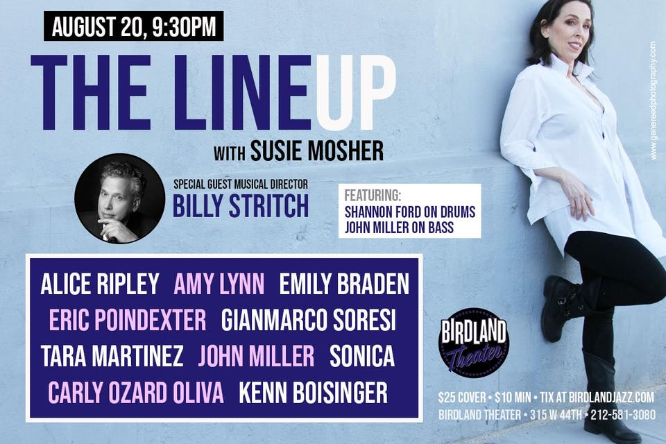 The Lineup with Susie Mosher with Guest Musical Director Billy Stritch!
