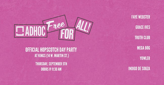 Free For All at Hopscotch Music Festival
