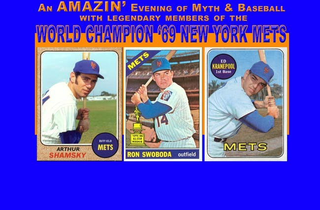 Evening of Myth & Baseball with the World Champion '69 NY Mets