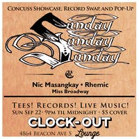 Sunday! Sunday! Sunday! w/ Nic Masangkay, Rhemic and Miss Broadway