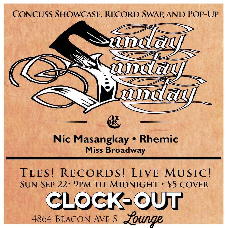 Sunday! Sunday! Sunday! w/ Nic Masangkay, Rhemic and Miss Broadway