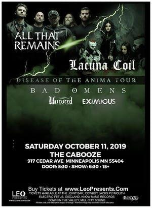 All That Remains & Lacuna Coil