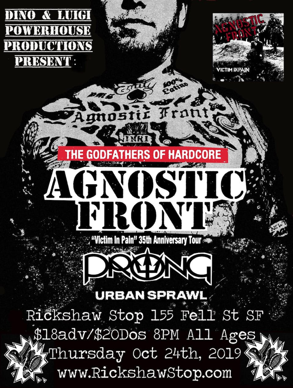 AGNOSTIC FRONT - Victim in Pain 35th Anniversary Tour