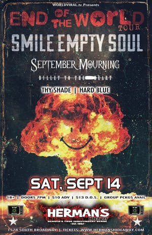 Smile Empty Soul_September Mourning_Bullet To The Heart_Thy Shade_Hard Blue