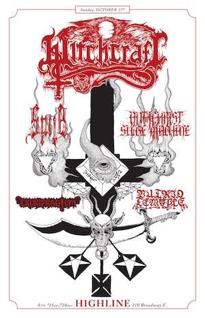Witchcraft, Spite, Crurifragium, Antichrist Siege Machine, Putrid Temple