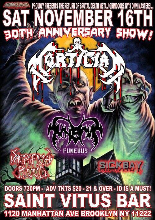 Mortician, Funerus, Sacrificial Blood, Sick Bay