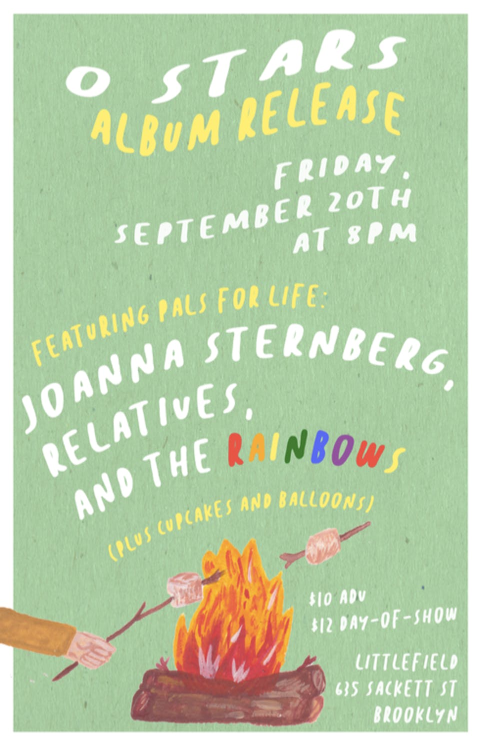 0 Stars (Album Release) w/ Joanna Sternberg, Relatives, TheRainbows