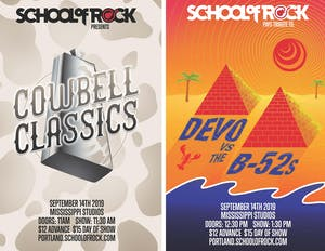 School of Rock Showcase: Cowbell Classics & tribute to  Devo VS The B-52's