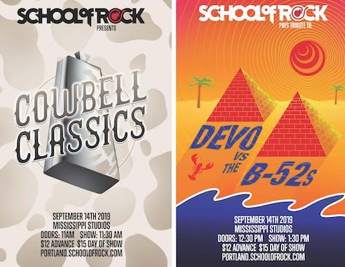 *School of Rock Showcase: Cowbell Classics & tribute to Devo VS The B-52's