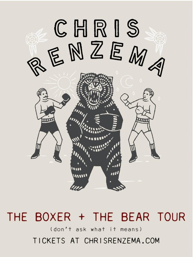 Chris Renzema - The Boxer + The Bear Tour w/ Saint Simon