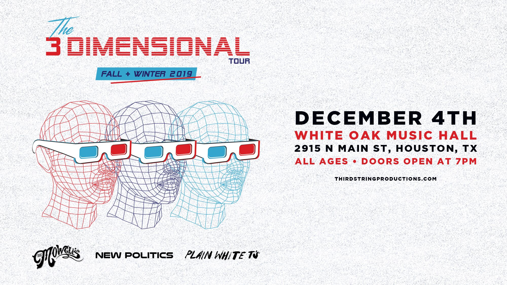 The Mowgli's, New Politics & Plain White T's – The 3 Dimensional Tour