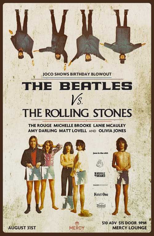 The Beatles vs The Rolling Stones : JoCo Shows Birthday Blowout