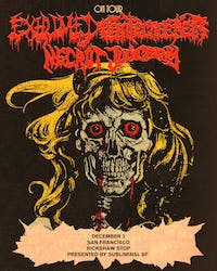 EXHUMED / GATECREEPER plus Necrot and  Judiciary