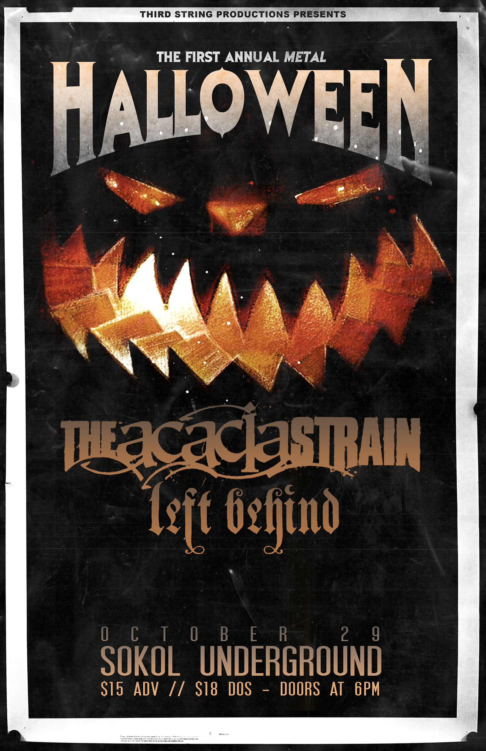 THIRD STRING HALLOWEEN PARTY: The Acacia Strain + MORE