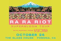 Ra Ra Riot with Bayonne and Hate Drugs