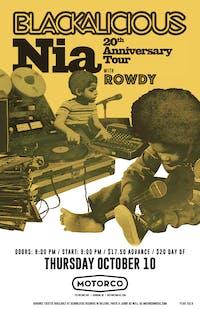 Blackalicious: Nia 20th Anniversary Tour with Rowdy