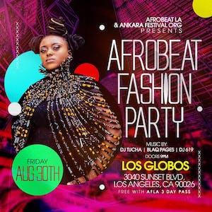 Afrobeat Fashion Party – Tickets – Los Globos – Los Angeles