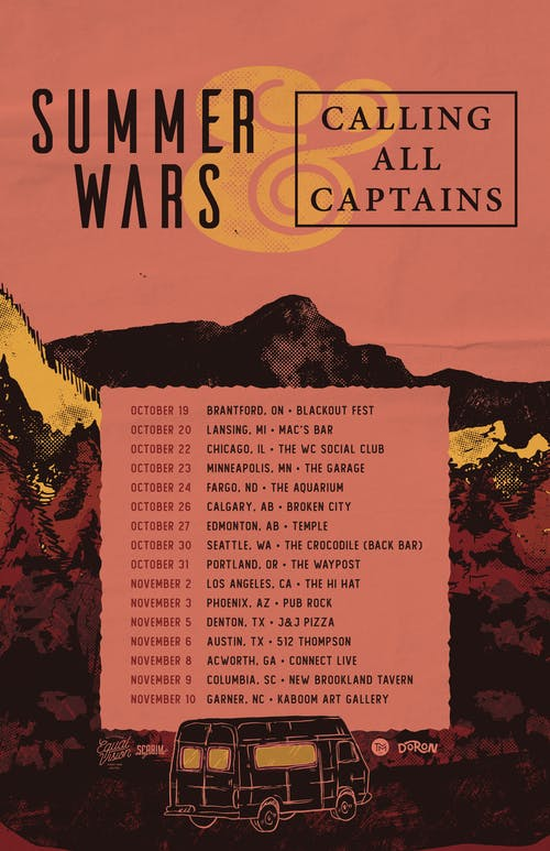 Summer Wars / Calling All Captains @ The Back Bar