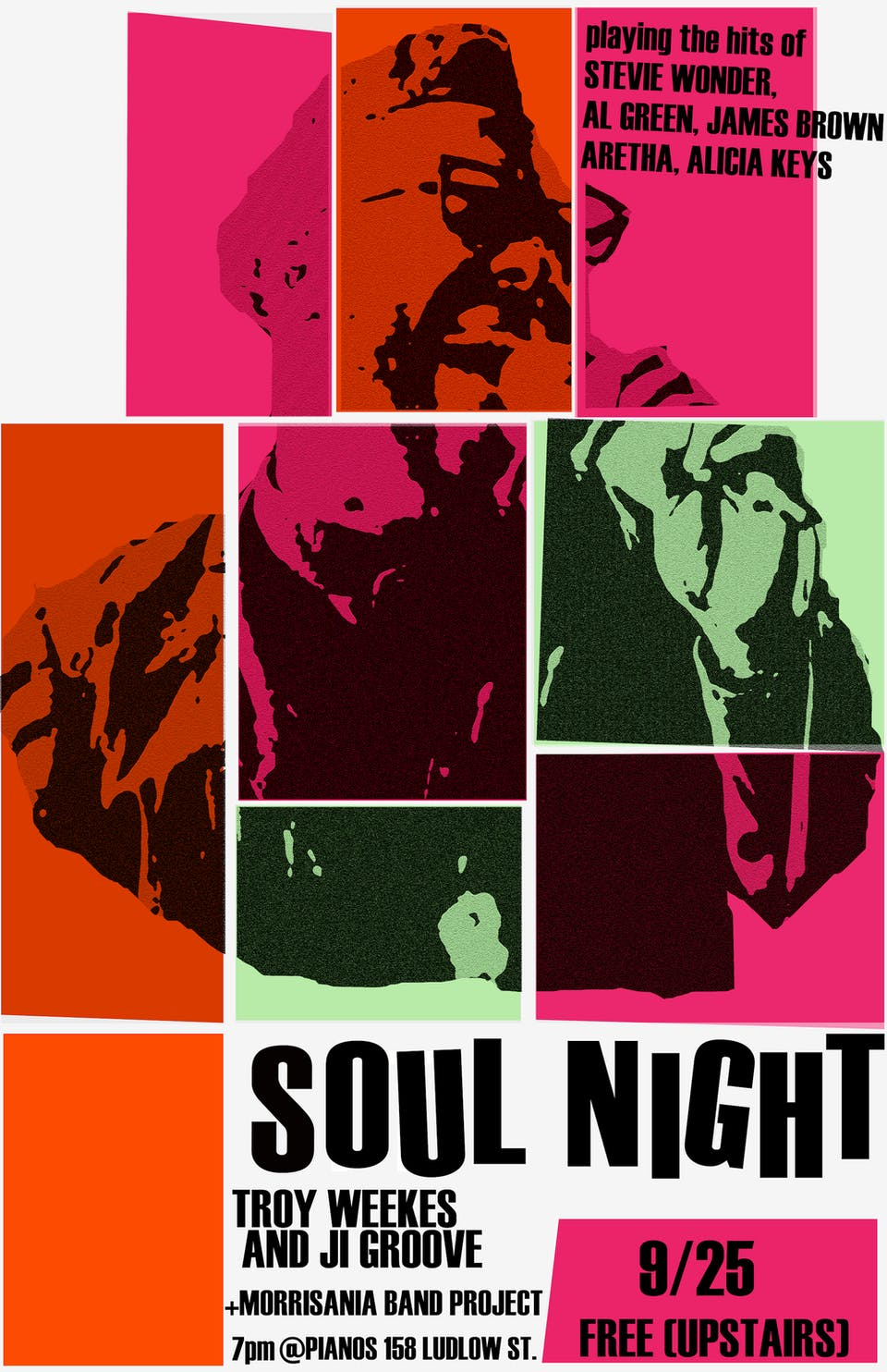 SOUL NIGHT - ft. Troy Weekes and JI Groove + Morrisania Band Project (Free)