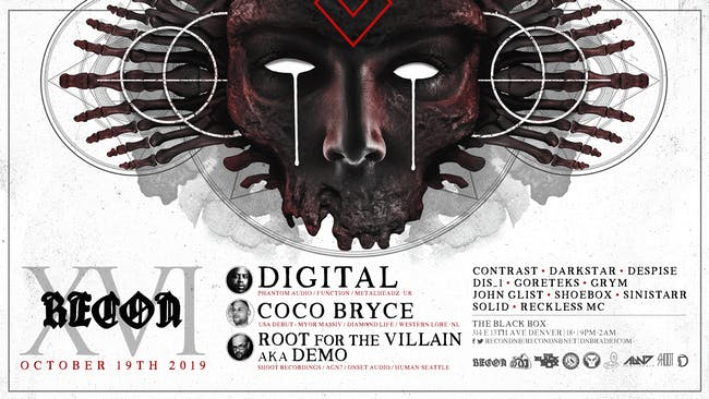 Recon DNB XVI Anniversary feat. Digital, Coco Bryce (USA debut), & more!