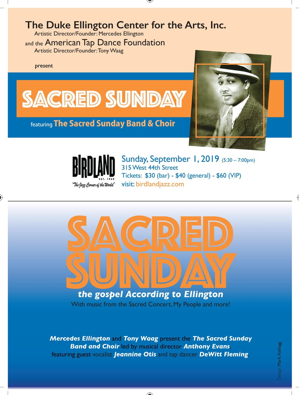 Duke Ellington Center Big Band Presents Sacred Sunday