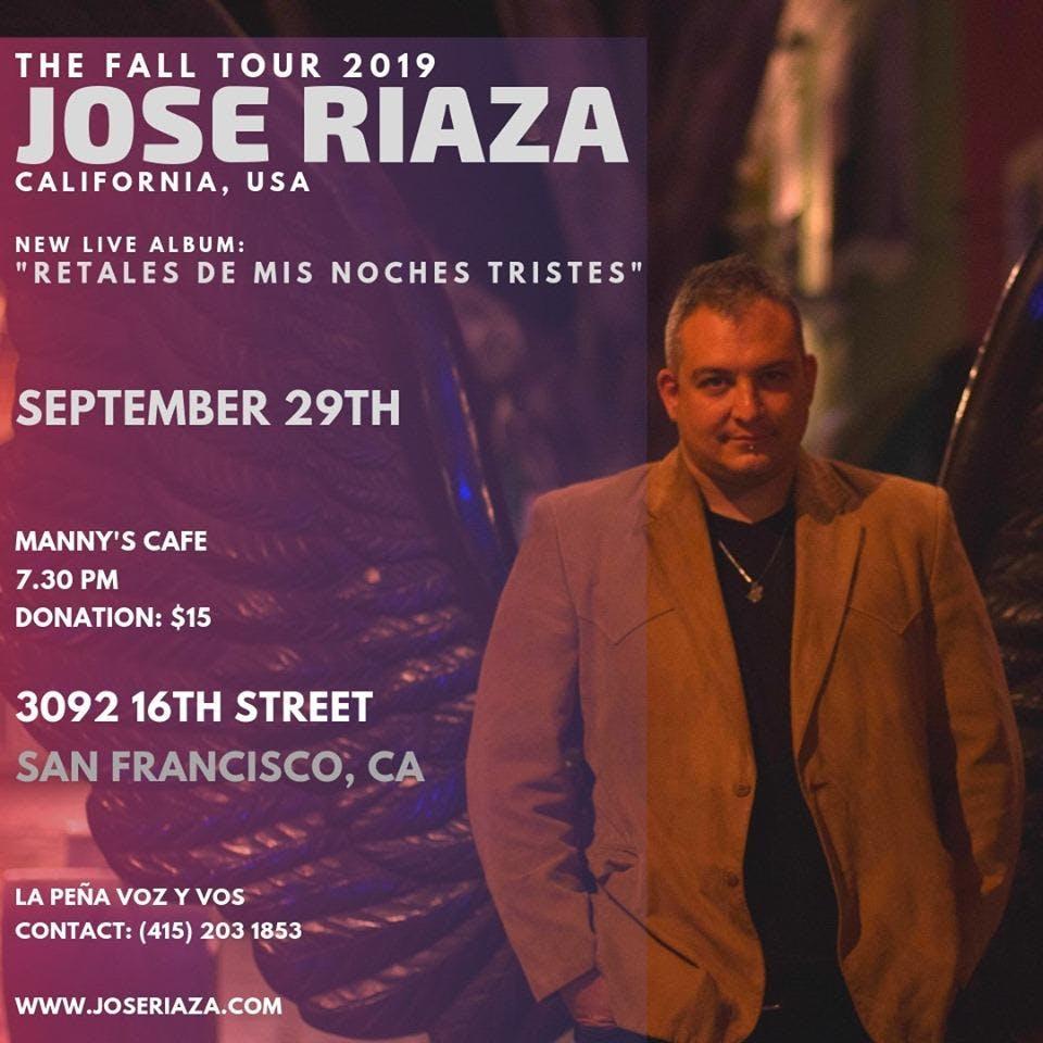 LIVE:  La Peña Voz y Vos con José Riaza