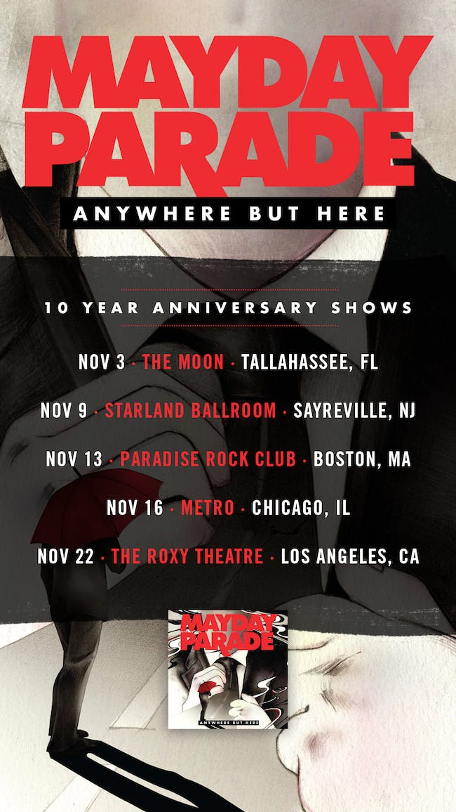 MAYDAY PARADE presents Anywhere But Here w/ Stages & Stereos