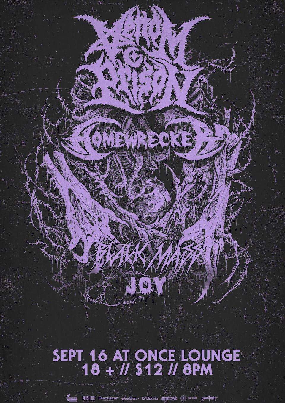 Venom Prison, Homewrecker, Black Mass, Joy