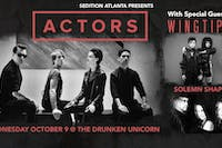 ACTORS w/ Wingtips and  Solemn Shapes at Drunken Unicorn