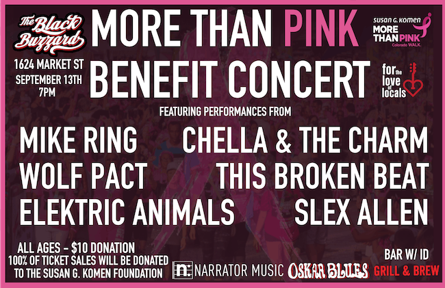 More Than Pink Benefit Concert