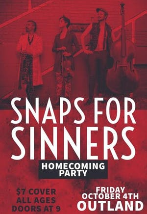 Snaps for Sinners Homecoming Party!