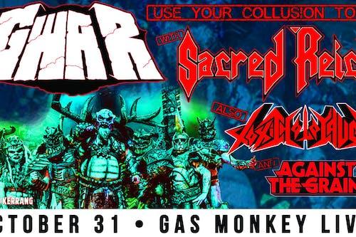 GWAR Halloween Back w/ Sacred Reich & Toxic Holocaust