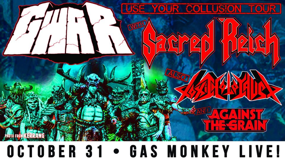 GWAR Halloween Bash w/ Sacred Reich & Toxic Holocaust