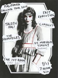 The Homobiles, Fast Execution, Taleen Kali, Copyslut, DJ Mariana Timony