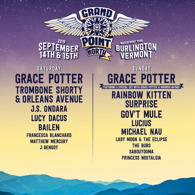 Grace Potter's Grand Point North - Saturday Tickets