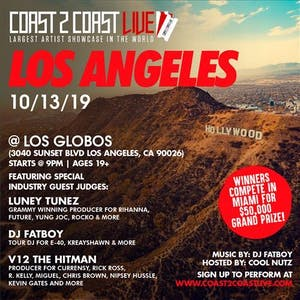 Coast 2 Coast LIVE Artist Showcase Los Angeles, CA - $50K Grand Prize
