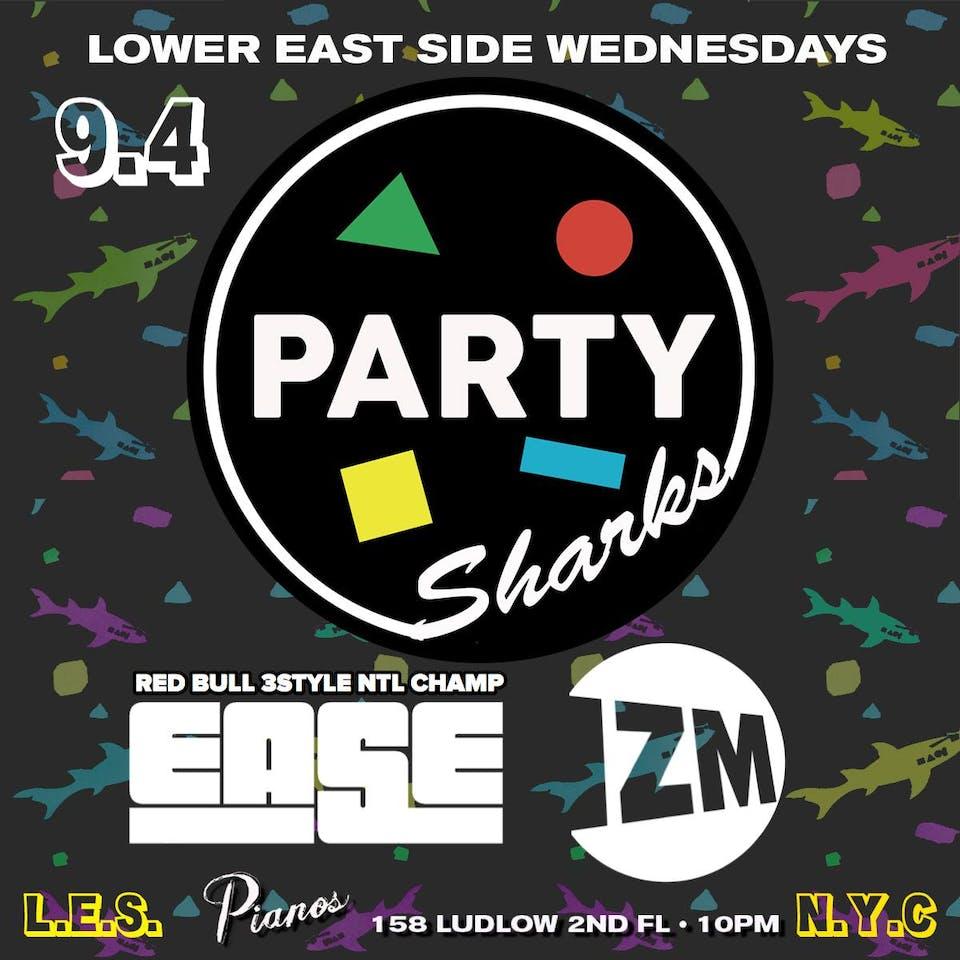PARTYSHARKS NYC ft. DJ Izm and DJ EASE (FREE)